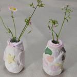 100均の紙粘土で花瓶作り