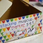 子供とお家で陶器の絵付け「スタッキングマグカップ・マーカーセット」