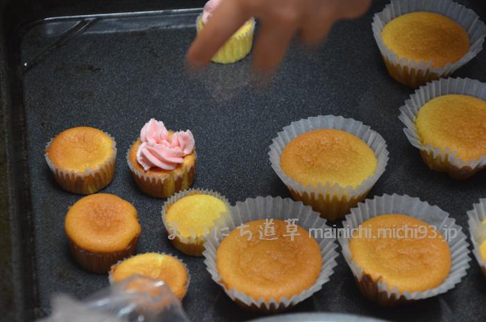 シフォンカップケーキ作り