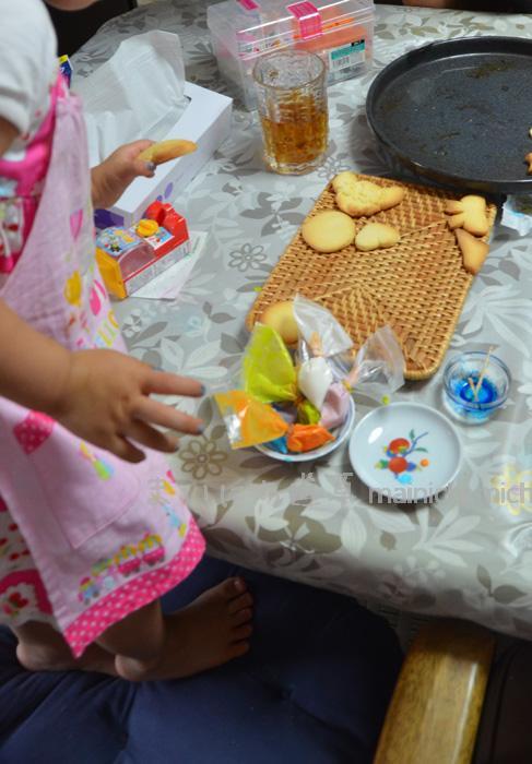 粉糖と卵白、少々の水で作ったアイシング