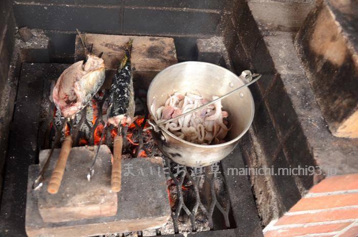 サバは塩焼き、赤イカは刺身とカレーにします