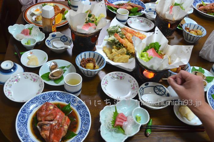 八幡荘の夕ご飯