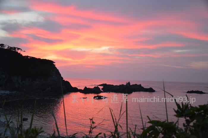 式根島の夕焼け
